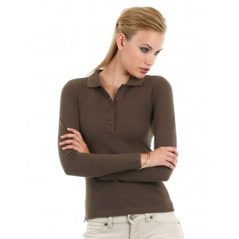 B370L B&C Safran pure long sleeve womens polo