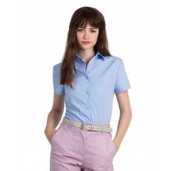 B&C Women's Smart Short Sleeve Poplin Shirt