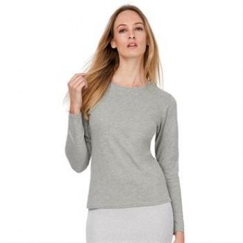 B&C Women-only long sleeve crew neck t-shirt
