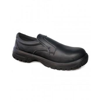 DK40 Dennys Comfort Grip Slip-On Safety Shoe in Black