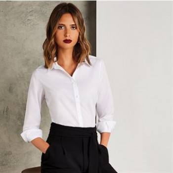 EWKK242 Women's Long Sleeve Tailored Fit Poplin Shirt