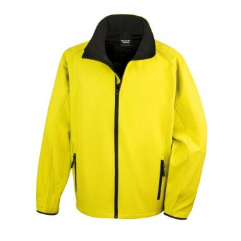 Result Core Contrast Printable softshell jacket in Yellow / Black