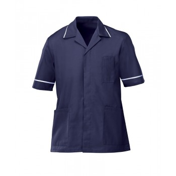 Male Tunic in Navy / White
