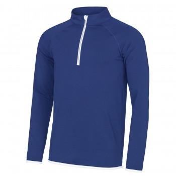 Sports Cool ½ zip sweatshirt Royal / White