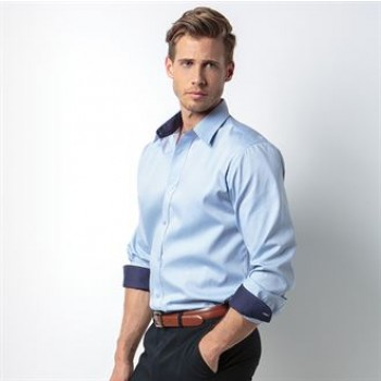 KK189 Contrast premium Oxford shirt long sleeve