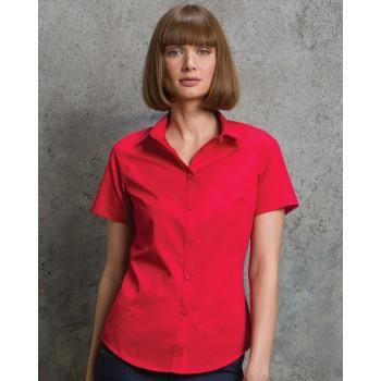 Kustom kit Womens short sleeve poplin shirt
