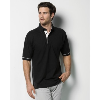 Kustom Kit Men's Button Down Collar Contrast Polo Shirt