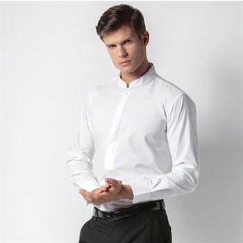 Kustom Kit KK161 Mandarin collar fitted shirt long sleeve