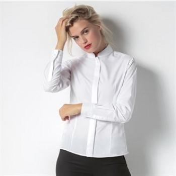 KK261 Kustom Kit Women's mandarin collar fitted shirt long sleeve