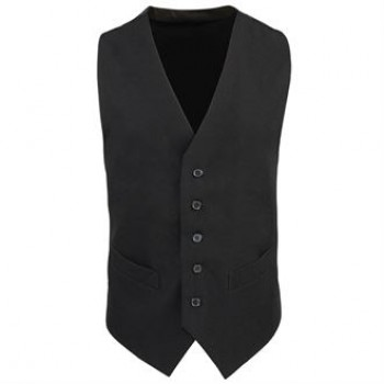 Premier Lined polyester waistcoat in black