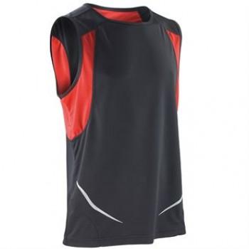 Black / Red Spiro Athletic Vest