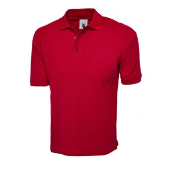 Red UC112 Cotton Rich Polo