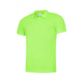 Mens Ultra Cool Polo Shirt in Electric Green