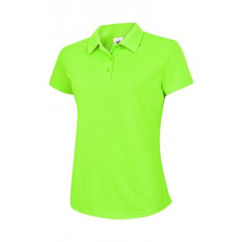 Ladies Ultra Cool Polo Shirt in Electric Green
