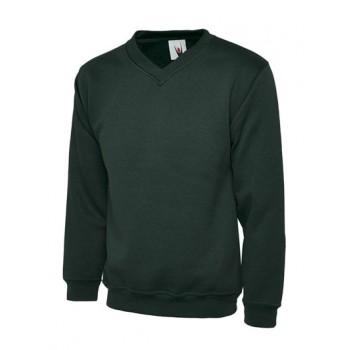 Bottle Green V Neck Sweater