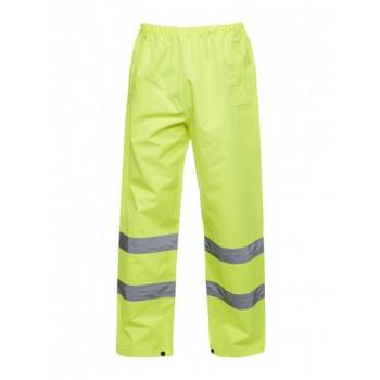 Uneek Hi-Viz Trousers Yellow Front Image