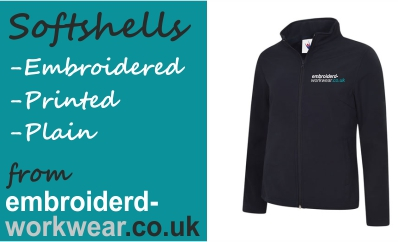 Embroidered and Printed Softshell Jackets